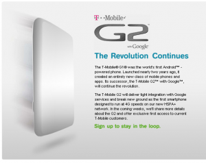 T-Mobile Revealing a new G2 Device? Plus Networks First HSPA+ Phone?