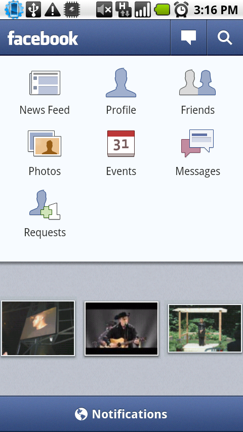 The new Facebook 1.3 app