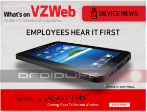 Samsung Galaxy Tablet Announcement Coming Thursday, Verizon Employees NOW!