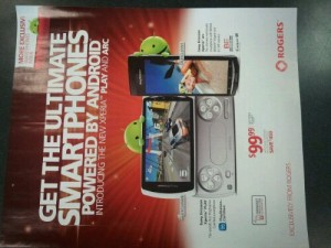 New Rogers Flyer Shows Off The Xperia Arc and Play