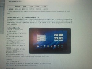 Lg Optimus Pad Launches Today on Rogers