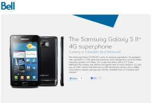 Samsung Galaxy S II Coming To Bell – UPDATED