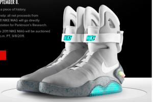 Nike releases the 2011 Nike MAG (AKA Back to the Future 2 Shoes)