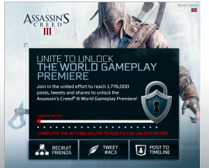 Unite to Unlock Assassin's Creed 3 World Gameplay Footage Premiere **UPDATE VIDEO**